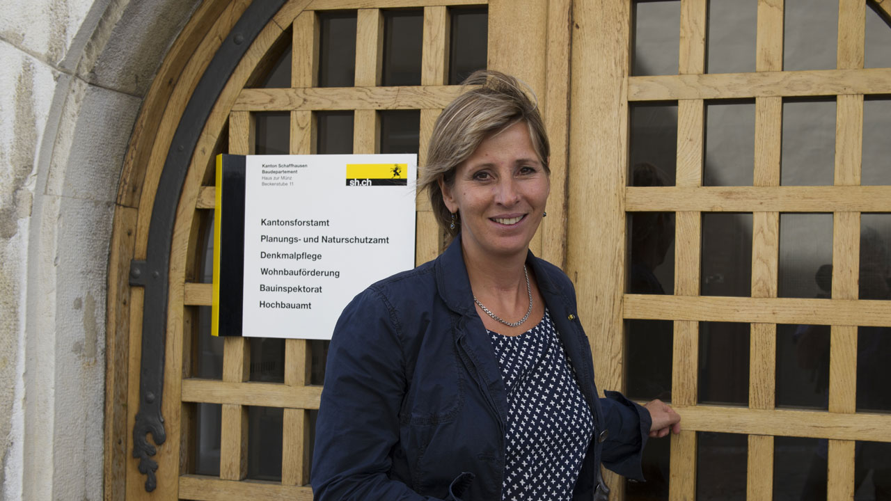 Flurina Pescatore, kantonale Denkmalpflegerin, Schaffhausen