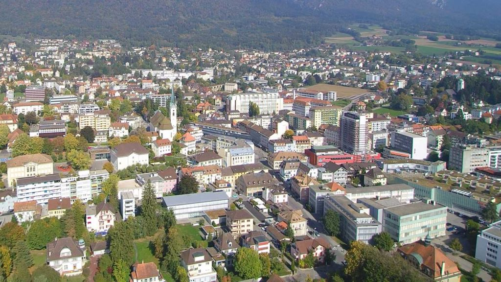 Luftaufnahme Stadt Grenchen