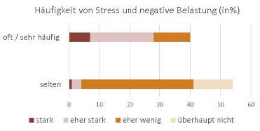 Zusammenhang zwischen Häufigkeit von Stress und negativer Belastungswirkung